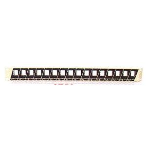 פאנל מילואה (עיוור) לארון תקשורת 16 פורטים ללא מחברים Luggar Empty Panel 16Ports 1U Blank 16 Port Patch Panel