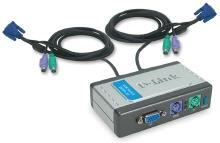 קופסת מיתוג דילינק D-Link DKVM-121 PS2 KVM 2Port Switch Audio
