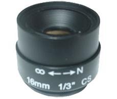 עדשה למצלמת גוף פרוויז'ן Provision CCD 1616F Lens for Camera 16mm