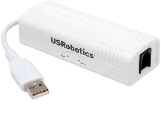 מודם פקס חיצוני U.S.Robotics USR805637 Fax/Modem V.92 56Kbps USB 5637