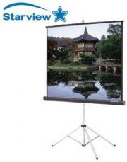 מסך הקרנה נגלל חצובה StarView 1.60X1.60