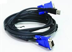 סט כבלים לקופסת מיתוג דילינק D-Link DKVM-CU KVM Cable 2 in 1 USB 1.8M