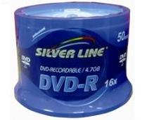 דיסקים לצריבה סילבר ליין Silver Line DVD-R X16 4.7GB 50pc