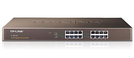 מתג סוויטש 16 ערוצים לארון תקשורת TP-Link TL-SG1016 10/100/1000Mbps Gigabit Rackmount Switch