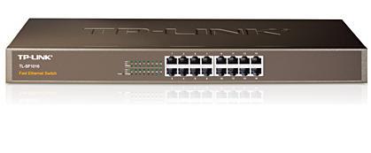 מתג לא מנוהל לארון תקשורת TP-Link TL-SF1016 16-port Switch 19'' Rackmount