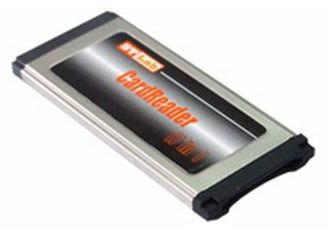 כרטיס הרחבה לנייד קורא כרטיסים ST-Lab C-350 EXPRESS CARD to FLASH CARD READER