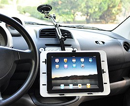 זרוע ארגונומית ארוכה וגמישה לטאבלט חיבור לשמשת רכב iPad אייפד/גלקסי מתאימה גם לרכב שטח JB Tech TABLET Arm 020-0114