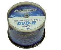 דיסקים לצריבה סילבר ליין פרינטבל Silver Line DVD-R 4.7GB x16 50pc Printable