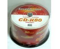 דיסקים לצריבה סילבר ליין פרינטבל Silver Line CD-R X52 700MB 50pc Printable