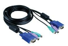 סט כבלים לקופסת מיתוג דילינק D-Link KVM Cable 1.5M DKVM-CB15