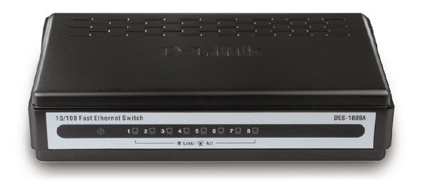 מתג לא מנוהל שולחני דילינק D-Link DES-1008A 8-Port Desktop Switch unmanaged, desktop