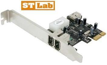 כרטיס הרחבה עריכה פיירוויר STLab F-360 FireWire 1394A + Ulead Software PCI-Express