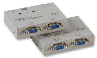 מאריך טווח VGA ואודיו עד 150 מטר כולל מפצל מסכים כפול Rextron EVA214
