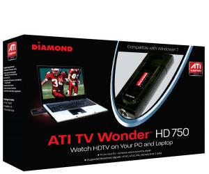 כרטיס טלוויזיה אנלוגי ודיגיטלי חיצוני Diamond TV Tuner ATI Theater™ HD 750 MCE USB2.0