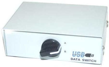 קופסת מיתוג מכנית לשני מדפסות USB Mechanical Switch Box AB