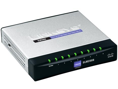 מתג סיסקו מנוהל גיגה 8 מבואות Cisco SLM2008T-EU Gigabit Switch 10/100/1000Mbps