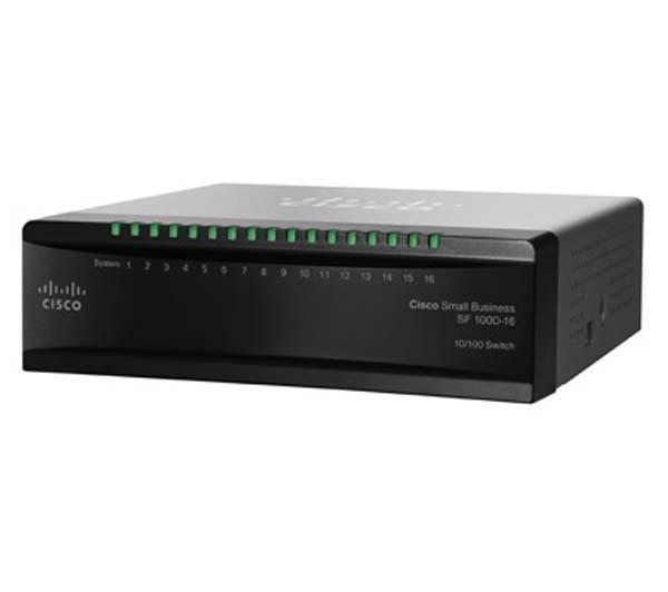 מתג 16 ערוצים לא מנוהל סיסקו Cisco SF100D-16 16-Port 10/100Mbps Desktop Switch