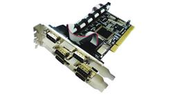 כרטיס הרחבה בקר 6 יציאות סיריאל ST-Lab RS232 I-450 6Serial Ports  PCI