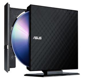 צורב אסוס DVD חיצוני שחור Asus SDRW-08D2S-U LITE x8 SATA Bulk