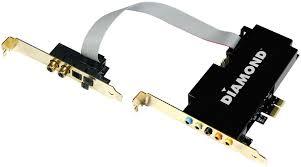 כרטיס קול פנימי כולל יציאה אופטית DIAMOND Xtreme Sound 7.1 PCI-e Low Profile 24Bit  Audio Opti SPDIF PCI-e
