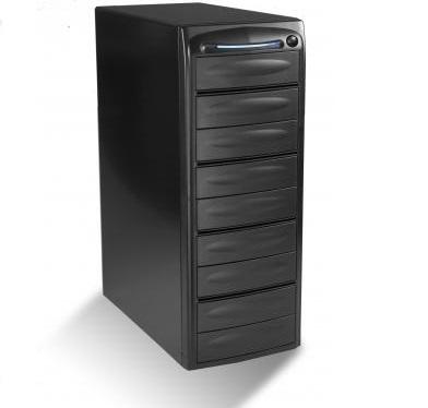 מגדל צריבה מארז למשכפל דיסקים תקליטורים DVD/CD ללא חיבור למחשב 1-7 (9 קומות) Famous FD-K509 9 Bay Duplicator