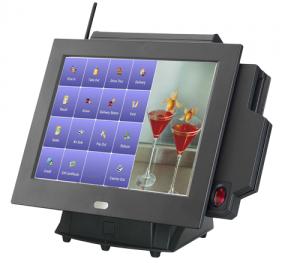 קופה רושמת ממוחשבת מסך מגע קורא כרטיסי אשראי Senor APOS 750 Monitor Intel D525 Dual Core 1.8Ghz 15'' Touch TFT LCD 2GB RAM 32GB SSD