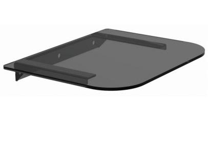 זרוע לממיר מדף זכוכית מחוסמת 5 מ''מ למכשירי אודיו וידיאו תומך במשקל עד 10 ק''ג Audio Line DVD-5