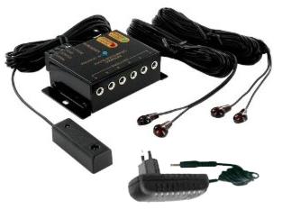 יחידת פיקוד ושליטה מרחוק אינפרא אדום 4 עיניות ל-4 מוצרים שונים Audio Line IR-1300 3.3Meter