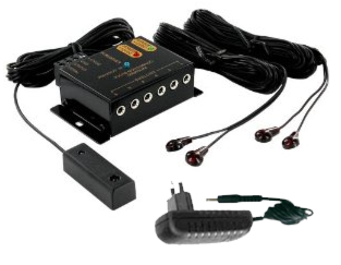 יחידת פיקוד ושליטה מרחוק אינפרא אדום 4 עיניות ל-4 מוצרים שונים Audio Line IR-1300 12Meter