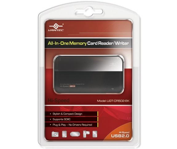 קורא כרטיסים חכמים חיצוני וונטק Vantev UGT-CR502-BK All-In-One Memory Card USB2.0
