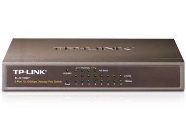 מתג לא מנוהל שולחני 8 ערוצים TP-Link TL-SF1008P 8-port Switch 4TP+4POE