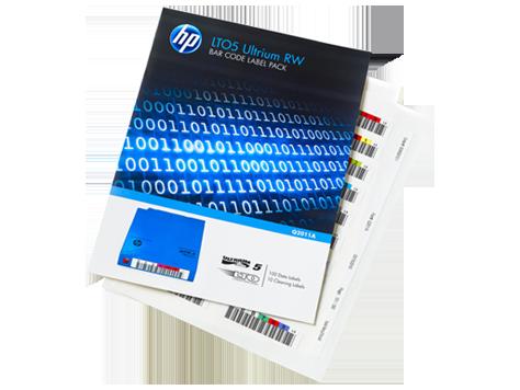 חבילת מדבקות לקלטות גיבוי HP LTO5 Q2011A Ultrium RW Bar Code label 110 pack