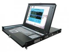 קופסת מיתוג לארון תקשורת מסך מקלדת ועכבר לארון תקשורת Rextron IKV-10 19'' 1U 15Inch USB