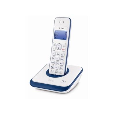 טלפון אלחוטי בודד כולל צג מואר כחול  AEG AG1000