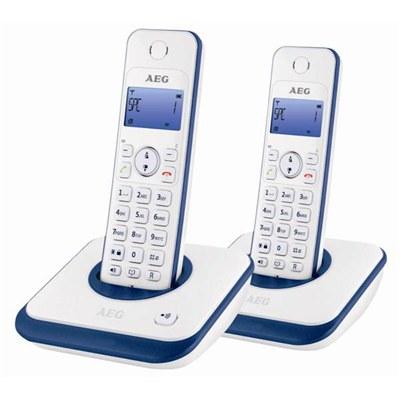 טלפון אלחוטי זוגי (2 טלפונים) צג מואר  AEG AG2000
