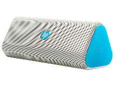 רמקול נייד אלחוטי בלוטות' כחול מיים HP Roar Plus 15W RMS 80HZ Bluetooth Aux Blue