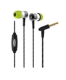 אוזניות כפתור בייסליין לסמארטפון כסף Baseline i-1 Silver