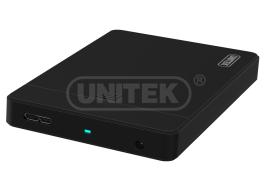 """מארז חיצוני לדיסק קשיח 2.5 אינצ' אלומיניום Unitek Y-3257 USB3.0 to 2.5"""" SATA6G HDD Enclosure with UASP Function"""