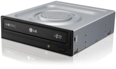 צורב אל ג'י DVD-RW פנימי שחור LG GH24NSD5.ARAA10B X24 SATA Black Bulk