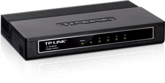 מתג לא מנוהל שולחני פלסטיק 5 ערוצים TP-Link TL-SG1005D 5-port 10/100/1000
