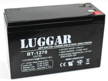 סוללה בטרייה מקורית לאלפסק Lugger Battery For UPS Battery 12V-7A