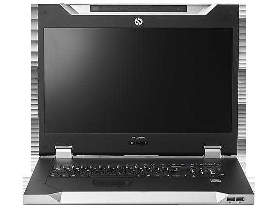 קופסת מיתוג לארון תקשורת כולל מסך HP LCD 8500 1U Rack Space Console Keyboard INTL KIT