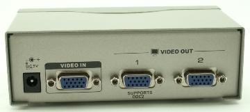 מפצל מסכים ספליטר מתכת 1/2 למסכים בו זמנית Gold Touch VS-2 Video Splitter 1 TO 2 Port VGA 250MHz