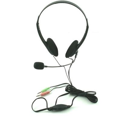 אוזניות למחשב ומיקרופון בקרת ווליום גולד טאצ Gold Touch HYG-600