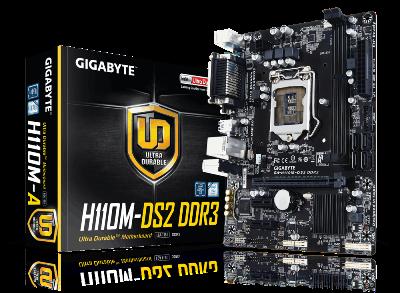 לוח אם ג'יגהבייט Gigabyte GA-H110M-S2H DDR4 Socket 1151 Intel H110