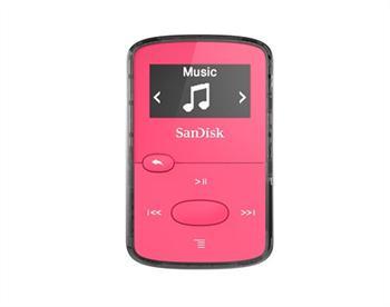 נגן קליפ ג'אם ורוד Sandisk Clip JAM MP3 Plyer 8GB Pink