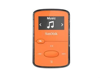 נגן קליפ ג'אם כתום Sandisk Clip JAM MP3 Plyer 8GB Orange