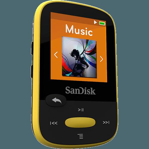 נגן קליפ ספורט צהוב Sandisk Clip Sport MP3 Plyer 4GB Yellow
