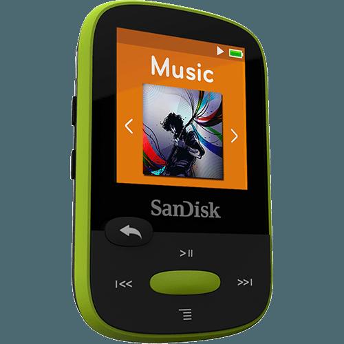 נגן קליפ ספורט לימון Sandisk Clip Sport MP3 Plyer 8GB Lemon