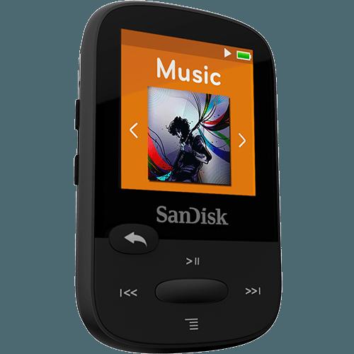 נגן קליפ ספורט שחור Sandisk Clip Sport MP3 Plyer 8GB Black